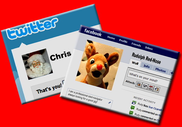 Santa and Rudolph in Cyberspace