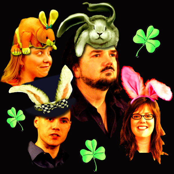 Janet, Parker, Joanna and Jack sport their Easter bonnets