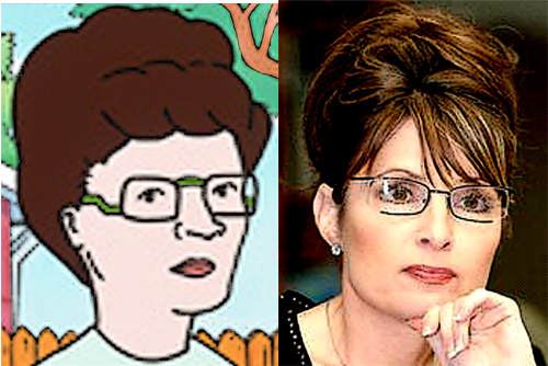 Peggy Hill and Sarah Palin - could be twins!
