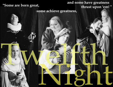 Photo of Duke Orsino, Viola, Maria, Sir Toby and Malvolio   - characters in Twelfth Night